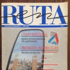 Coches: REVISTA EN RUTA. EDITADA POR VOLVO. MAYO 1989. Nº 3.. Lote 152587294