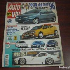 Coches: REVISTA AUTO VIA Nº 68 -1995 - FIAT BRAVO - RENAULT MEGANE- VIPER GTS-R-. Lote 152629574