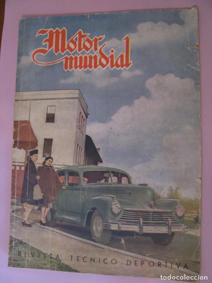 REVISTA MOTOR MUNDIAL Nº 44 ENERO 1948. (Coches y Motocicletas Antiguas y Clásicas - Revistas de Coches)