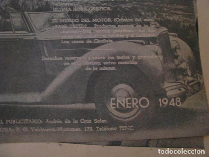 Coches: REVISTA MOTOR MUNDIAL Nº 44 ENERO 1948. - Foto 2 - 152827382