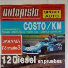 Coches: REVISTA AUTOPISTA Nº 1067- AÑO 1979 - FOTO SUMARIO - PRUEBAS 12 MODELOS DIESEL. Lote 153195614
