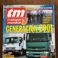Coches: REVISTA TRANSPORTE MUNDIAL NÚMERO 160 DE 2000 IVECO PEGASO TRONER. Lote 153818084