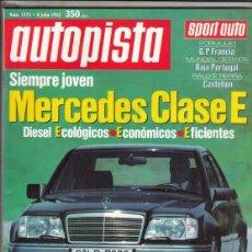 Coches: REVISTA AUTOPISTA Nº 1773 AO 1993. COMPARATIVA: JEEP CHEROKEE 2.5 Y OPEL FRONTERA 2.4I. GAMA MAZDA. . Lote 153833602