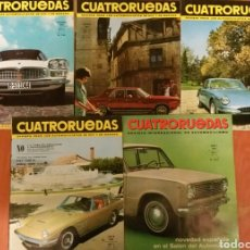 Coches: LOTE 5 REVISTAS CUATRORUEDAS, AÑO 1966,AHÍ UNA AÑO 1968. Lote 154389576