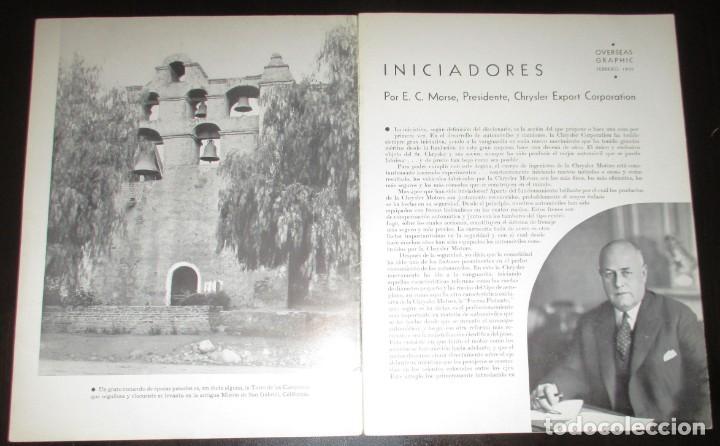 Coches: REVISTA ORIGINAL DODGE OVERSEAS GRAPHIC - EDICIÓN ESPAÑOLA DE FEBRERO DE 1935. - Foto 2 - 155310194