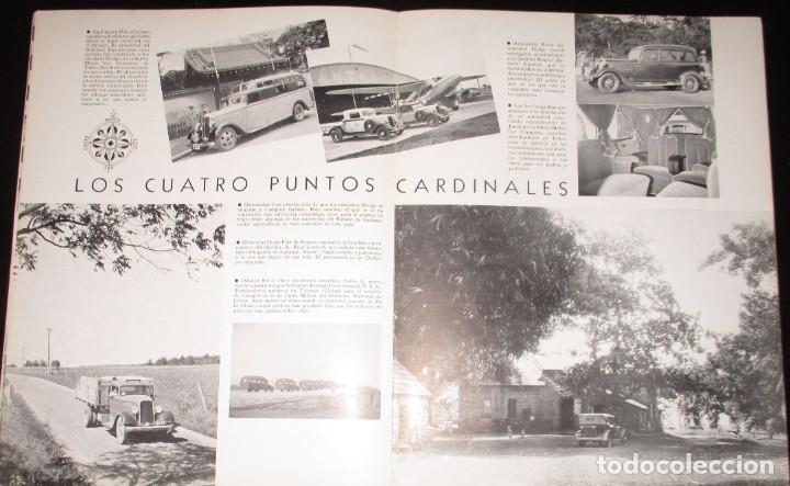Coches: REVISTA ORIGINAL DODGE OVERSEAS GRAPHIC - EDICIÓN ESPAÑOLA DE FEBRERO DE 1935. - Foto 6 - 155310194
