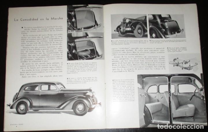 Coches: REVISTA ORIGINAL DODGE OVERSEAS GRAPHIC - EDICIÓN ESPAÑOLA DE FEBRERO DE 1935. - Foto 7 - 155310194