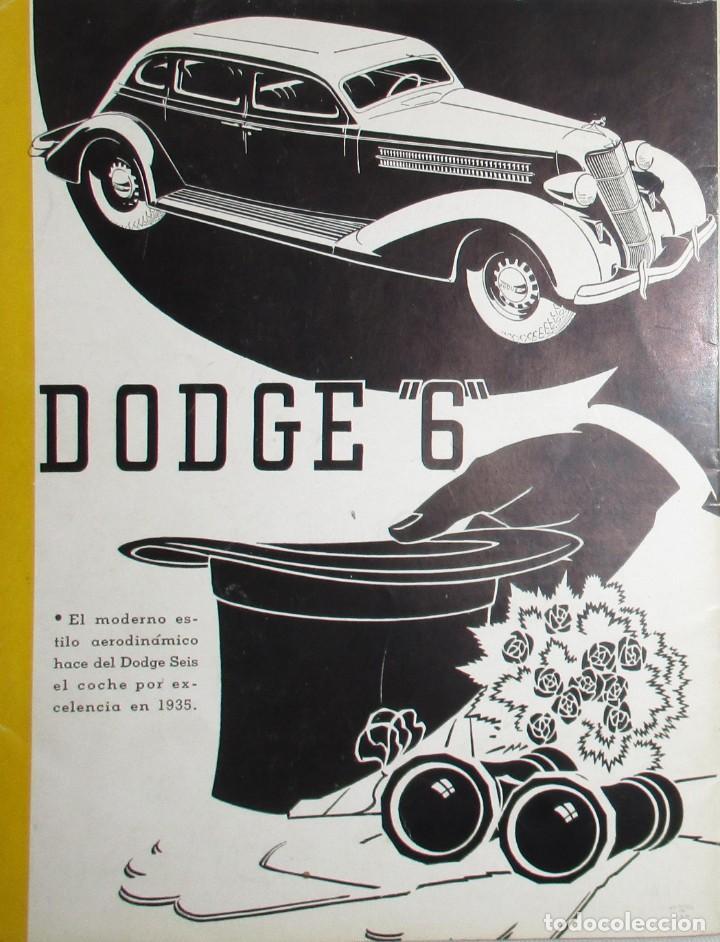 Coches: REVISTA ORIGINAL DODGE OVERSEAS GRAPHIC - EDICIÓN ESPAÑOLA DE FEBRERO DE 1935. - Foto 11 - 155310194