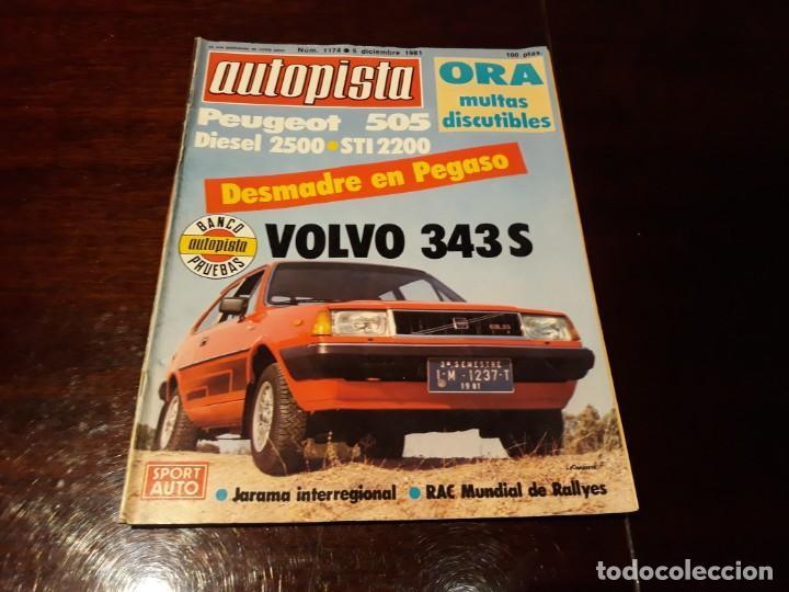 REVISTA AUTOPISTA Nº 1174 AÑO 1981. VOLVO 343 SPORT. (Coches y Motocicletas Antiguas y Clásicas - Revistas de Coches)
