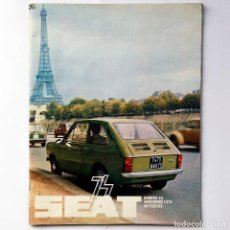 Coches: REVISTA SEAT Nº 93. AÑO 1974. POSTER SEAT 133.. Lote 155746294