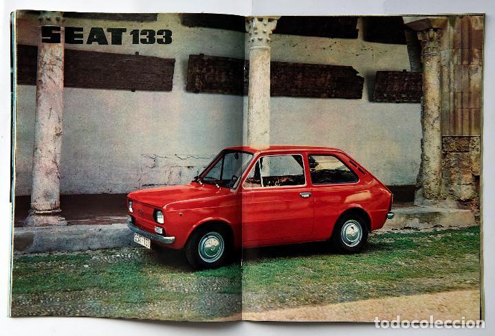 Coches: Revista SEAT Nº 93. Año 1974. Poster Seat 133. - Foto 2 - 155746294