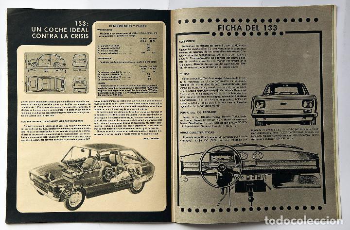 Coches: Revista SEAT Nº 93. Año 1974. Poster Seat 133. - Foto 3 - 155746294