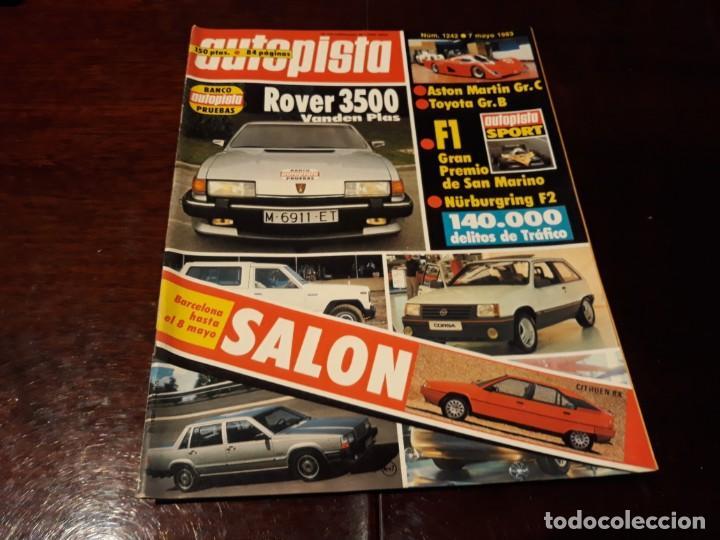 REVISTA AUTOPISTA Nº 1242 AÑO 1983. ROVER 3500 (Coches y Motocicletas Antiguas y Clásicas - Revistas de Coches)