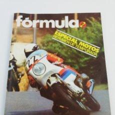 Coches: REVISTA FORMULA NUMERO 86 DICIEMBRE 1973 ESPECIAL MOTOS, RALLY RACE 2000 VIRAJES, VEE SUMARIO.. Lote 156510800