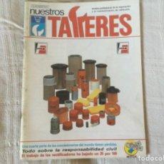 Coches: REVISTA NUESTROS TALLERES. Nº 104 ENERO 1989. Lote 156539822