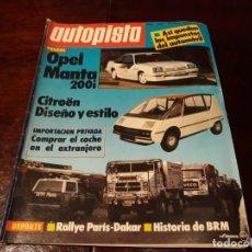 Coches: REVISTA AUTOPISTA Nº 1278 AÑO 1984. OPEL MANTA 200I. . Lote 156552450