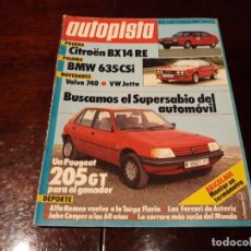 Coches: REVISTA AUTOPISTA Nº 1282 - AÑO 1984 - CITROEN BX14 RE - BMW 635 CSI - VOLVO 740. Lote 156554514