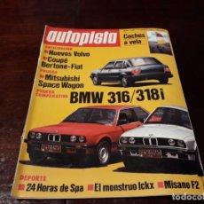 Coches: REVISTA AUTOPISTA Nº 1307 AÑO 1984 . BMW 316/ 318 I. Lote 156580058