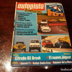 Coches: REVISTA AUTOPISTA Nº 1354 AÑO 1985 - CITROEN BX BREAK - DESCAPOTABLES BARATOS - MEHARI , PANDA 40 .. Lote 156659494