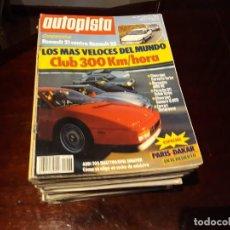 Coches: LOTE DE 52 REVISTAS AUTOPISTA AÑO 1988 AÑO COMPLETO FOTOS DE TODAS LAS PORTADAS . ENVIO 6 EUROS. Lote 156959274
