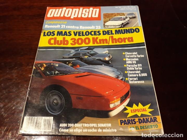 Coches: LOTE DE 52 REVISTAS AUTOPISTA AÑO 1988 AÑO COMPLETO FOTOS DE TODAS LAS PORTADAS . ENVIO 6 EUROS - Foto 2 - 156959274