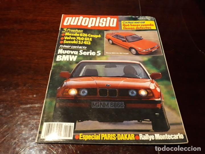 Coches: LOTE DE 52 REVISTAS AUTOPISTA AÑO 1988 AÑO COMPLETO FOTOS DE TODAS LAS PORTADAS . ENVIO 6 EUROS - Foto 5 - 156959274