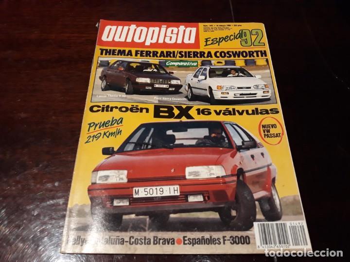 Coches: LOTE DE 52 REVISTAS AUTOPISTA AÑO 1988 AÑO COMPLETO FOTOS DE TODAS LAS PORTADAS . ENVIO 6 EUROS - Foto 8 - 156959274