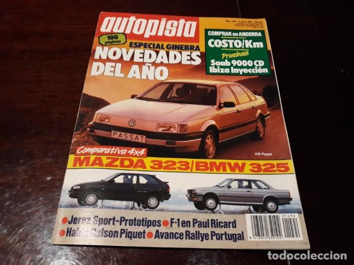 Coches: LOTE DE 52 REVISTAS AUTOPISTA AÑO 1988 AÑO COMPLETO FOTOS DE TODAS LAS PORTADAS . ENVIO 6 EUROS - Foto 10 - 156959274