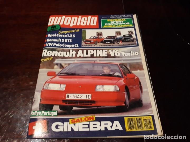 Coches: LOTE DE 52 REVISTAS AUTOPISTA AÑO 1988 AÑO COMPLETO FOTOS DE TODAS LAS PORTADAS . ENVIO 6 EUROS - Foto 11 - 156959274