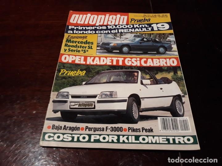 Coches: LOTE DE 52 REVISTAS AUTOPISTA AÑO 1988 AÑO COMPLETO FOTOS DE TODAS LAS PORTADAS . ENVIO 6 EUROS - Foto 31 - 156959274