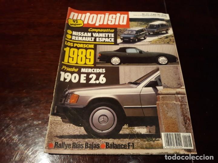 Coches: LOTE DE 52 REVISTAS AUTOPISTA AÑO 1988 AÑO COMPLETO FOTOS DE TODAS LAS PORTADAS . ENVIO 6 EUROS - Foto 35 - 156959274