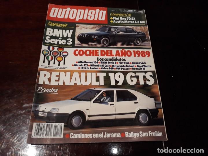 Coches: LOTE DE 52 REVISTAS AUTOPISTA AÑO 1988 AÑO COMPLETO FOTOS DE TODAS LAS PORTADAS . ENVIO 6 EUROS - Foto 43 - 156959274