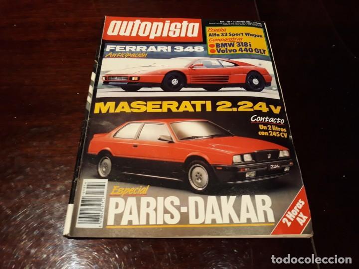 Coches: LOTE DE 52 REVISTAS AUTOPISTA AÑO 1988 AÑO COMPLETO FOTOS DE TODAS LAS PORTADAS . ENVIO 6 EUROS - Foto 53 - 156959274