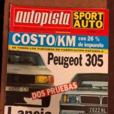 Coches: AUTOPISTA N° 1070 (OCTUBRE 1979). PEUGEOT 305, LANCIA DELTA,.... Lote 157126098
