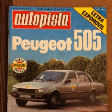 Coches: AUTOPISTA N° 1100 (MAYO 1980). PEUGEOT 505, GP BÉLGICA NÜRBURGRING,.... Lote 157137496