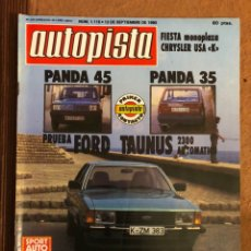 Coches: AUTOPISTA N° 1115 (SEPTIEMBRE 1980). SEAT PANDA 35 Y 45, FORD TAUNUS, RALLYE 1000 LAGOS,.... Lote 157138520