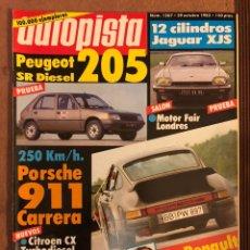 Auto: AUTOPISTA N° 1267 (OCTUBRE 1983). JAGUAR XJS, PORSCHE 911 CARRERA, VOLVO 360 GLE, RALLYE CATALUÑA,... Lote 157306057