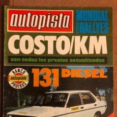 Coches: AUTOPISTA N° 1027 (OCTUBRE 1978). RENAULT 5 GTL, RALLYES, JARAMA, F1: PILOTOS,.... Lote 157779460