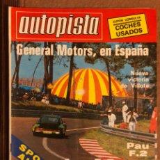 Auto: AUTOPISTA N° 1057 (JUNIO 1979). SEAT FL-82, SEAT 128, POSTER EMILIO VILLOTA (LOTUS), RALLYES,.... Lote 157781881