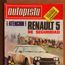 Coches: AUTOPISTA N° 1059 (JUNIO 1979). RENAULT 5 EPURE, SEAT 850, SEAT 131/1600, POSTER JOCHI KLEINT,... Lote 157781932