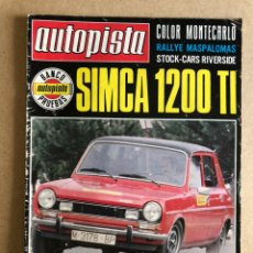 Coches: AUTOPISTA N° 938 (FEBRERO 1977). SIMCA 1200 TI, RENAULT 5 TS, SEAT 1430, RALLYES,... Lote 171429685