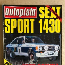 Coches: AUTOPISTA N° 968 (SEPTIEMBRE 1977). SEAT 1430 SPORT, FORD FIESTA 1300, FORD RALLYES,.... Lote 157881614