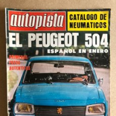 Coches: AUTOPISTA N° 975 (OCTUBRE 1077). PEUGEOT 504, RENAULT 5 TS, SEAT 1430, RALLYES, F1,.... Lote 157881773