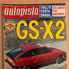Auto: AUTOPISTA N° 992 (FEBRERO 1978). CITROËN GX-X2, AUSTIN ALLEGRO 1500, GANS VOLVO '78, RALLYES, .... Lote 158160946