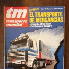 Coches: REVISTA TRANSPORTE MUNDIAL N. 63 DE 1992 IVECO PEGASO CAMION SCANIA. Lote 182263111