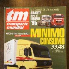 Coches: REVISTA TRANSPORTE MUNDIAL N. 95 DE 1995 CAMION MERCEDES BENZ SCANIA . Lote 158282170