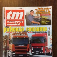 Coches: REVISTA TRANSPORTE MUNDIAL N. 158 DE 2000 CAMION SCANIA RENAULT VOLVO. Lote 158290318