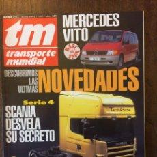 Coches: REVISTA TRANSPORTE MUNDIAL N. 101 DE 1995 CAMION SCANIA ERF. Lote 158290722