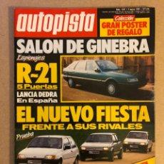 Coches: AUTOPISTA N° 1547 (MARZO 1989). LANCIA DEDRA, FORD FIESTA VS RIVALES, R-21, RALLYES,.... Lote 158336098