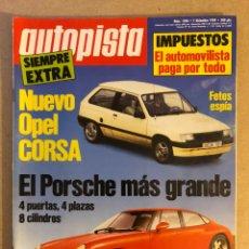 Coches: AUTOPISTA N° 1586 (DICIEMBRE 1989). TOYOTA CELICA, ALFA ROMEO SPIDER, VOLVO 460, MASERATI BITURBO 22. Lote 158339218